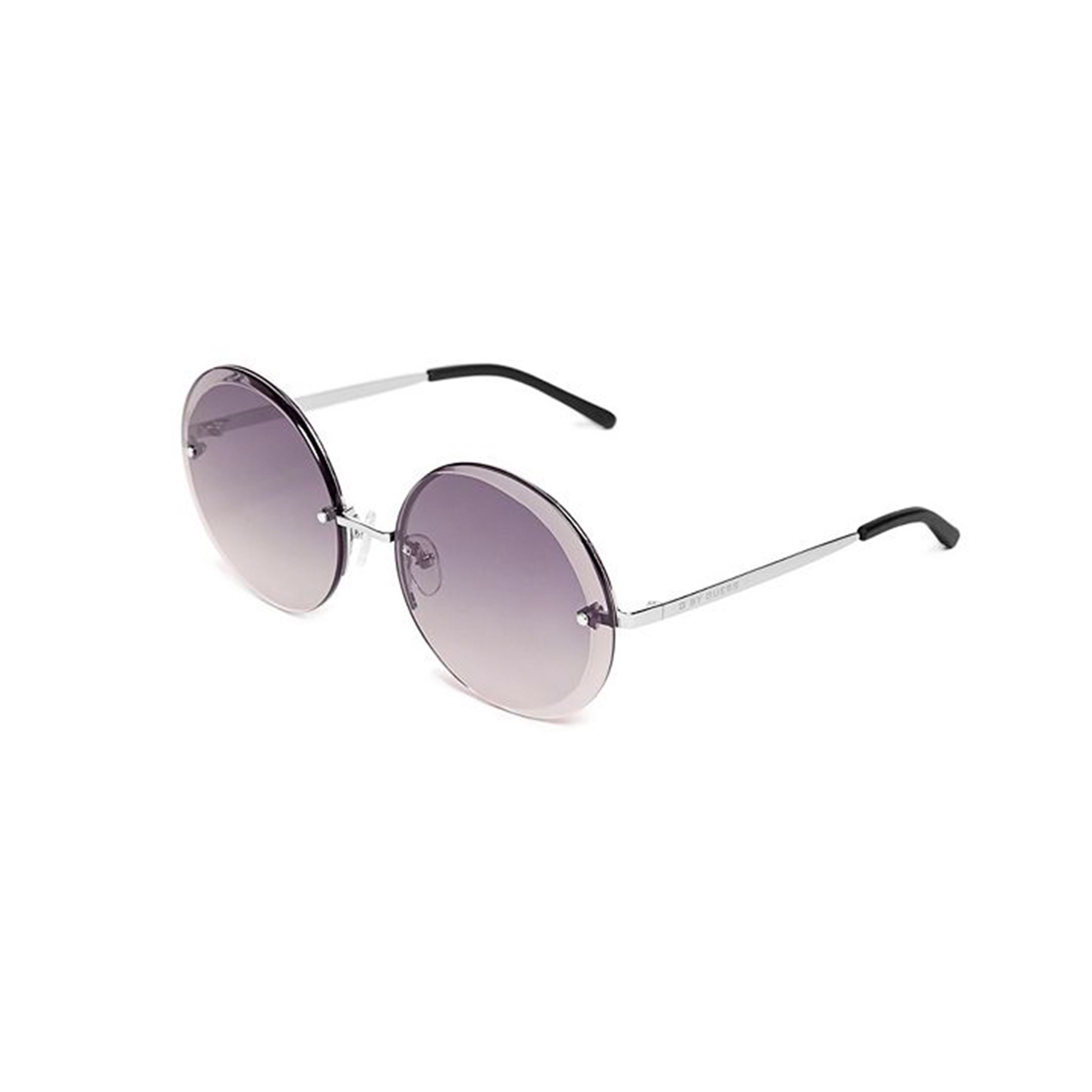 7d362f73ab Details about Guess Women s Blue Round Sunnies UV2 Protection Gradient  Lenses Metal Frame
