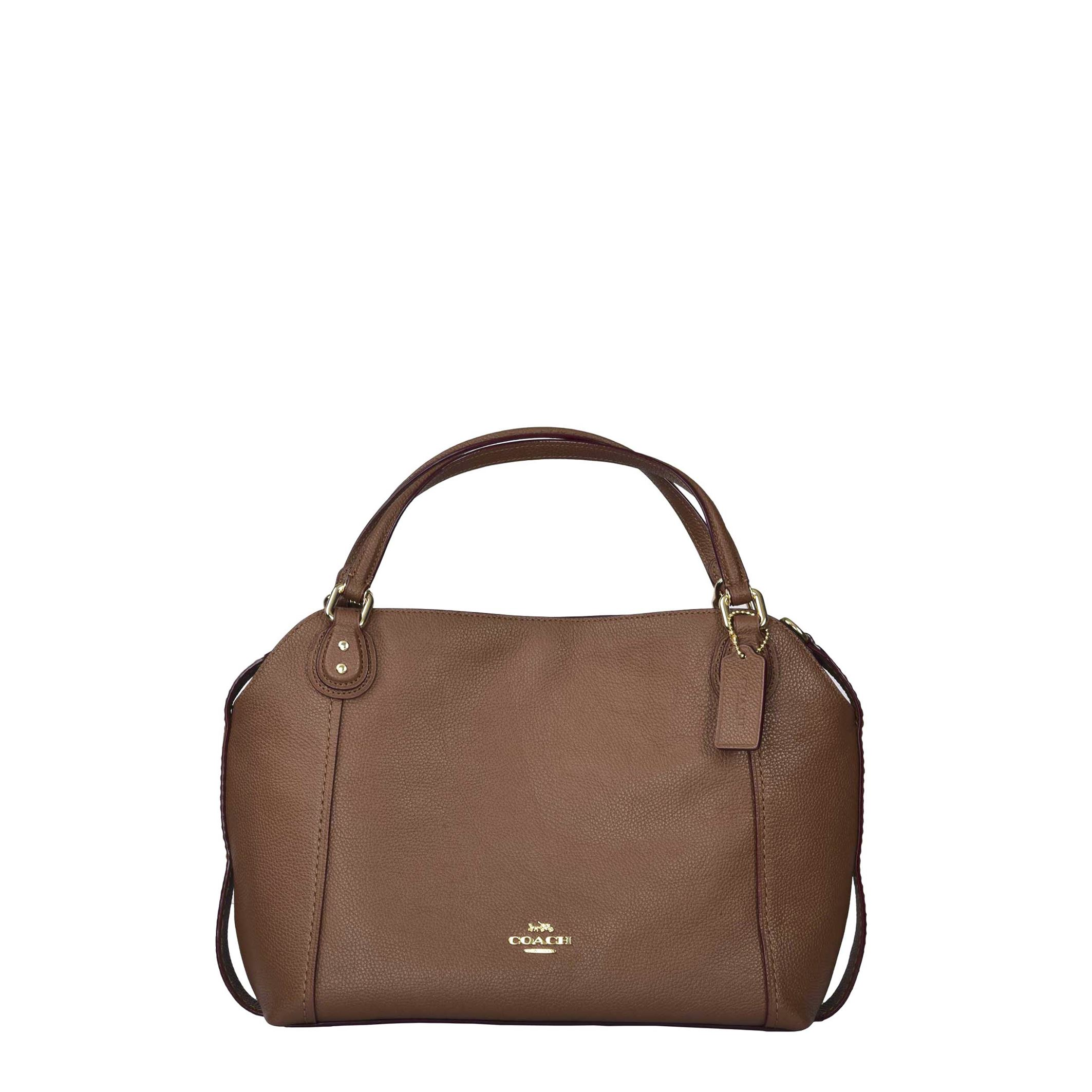 12a922e4611b Details about Coach Women s Brown Handbag Metallic Fastening Removable Strap