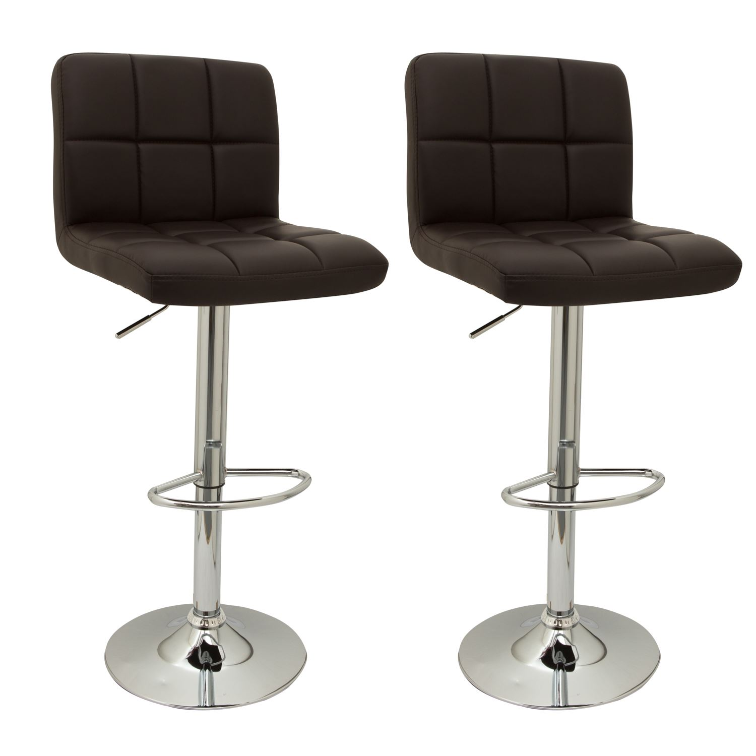 2 DESIGNER FAUX LEATHER KITCHEN BREAKFAST BAR STOOLS