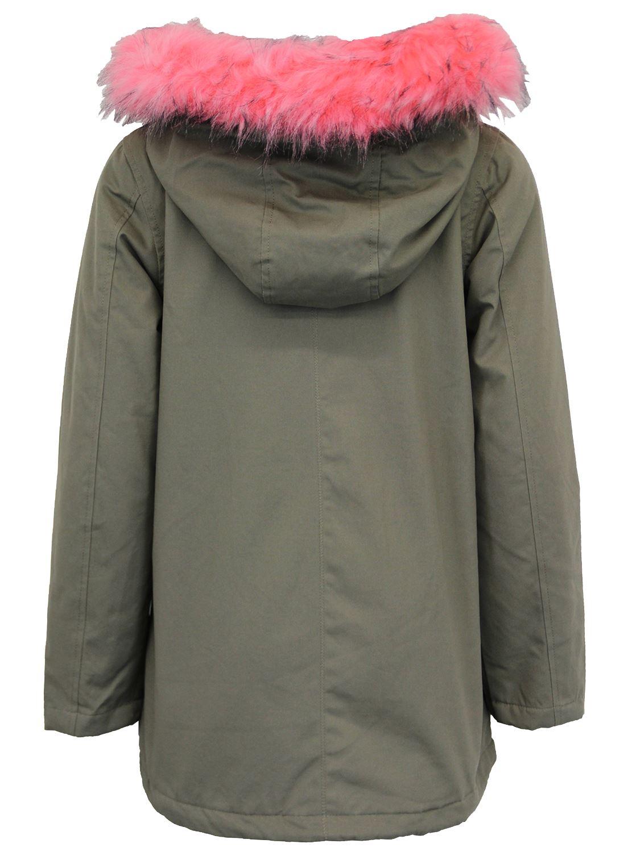 Neu-Damen-Pelz-Sherpa-Vlies-Hooded-liniert-Parka-Winter-Mantel-Jacken-36-52 Indexbild 9