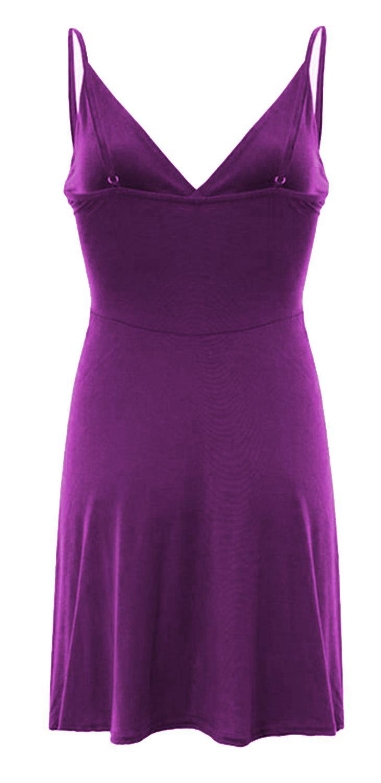 Nouveau-Femme-Curve-Bustier-A-Bretelles-Robe-Patineuse-plongeant-V-Neck-Wrap-Dress-8-22 miniature 13