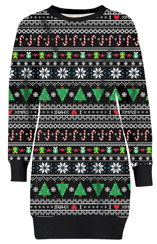 New Ladies Baby Reindeer Snowflakes Christmas Thermal Fleece Sweatshirt Jumpers