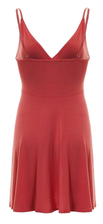 Nouveau-Femme-Curve-Bustier-A-Bretelles-Robe-Patineuse-plongeant-V-Neck-Wrap-Dress-8-22 miniature 7
