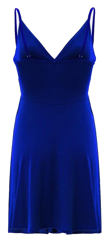 Nouveau-Femme-Curve-Bustier-A-Bretelles-Robe-Patineuse-plongeant-V-Neck-Wrap-Dress-8-22 miniature 17