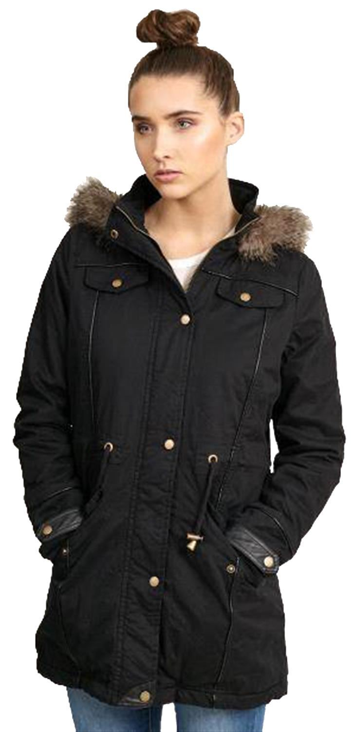 neu damen sherpa vlies gef ttert pelz mit kapuze winter mantel parka jacken ebay. Black Bedroom Furniture Sets. Home Design Ideas