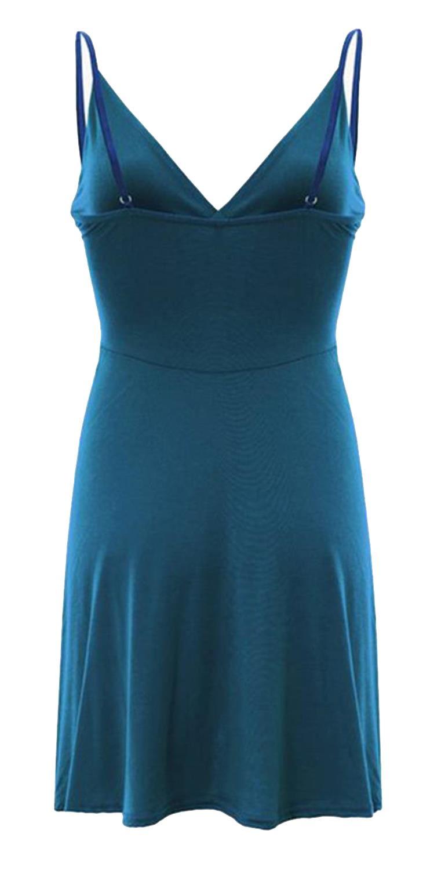 Nouveau-Femme-Curve-Bustier-A-Bretelles-Robe-Patineuse-plongeant-V-Neck-Wrap-Dress-8-22 miniature 19