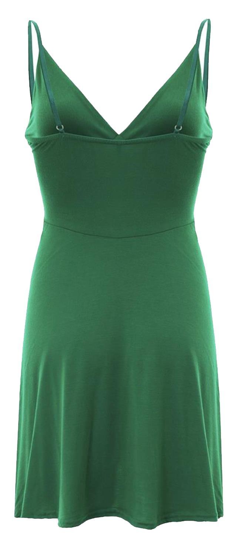 Nouveau-Femme-Curve-Bustier-A-Bretelles-Robe-Patineuse-plongeant-V-Neck-Wrap-Dress-8-22 miniature 9