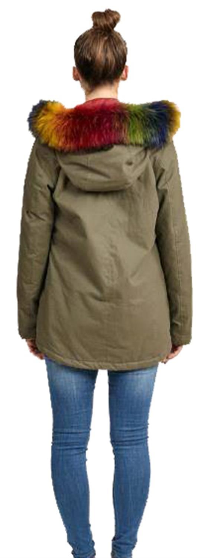 Parka Coloured Fur Hood