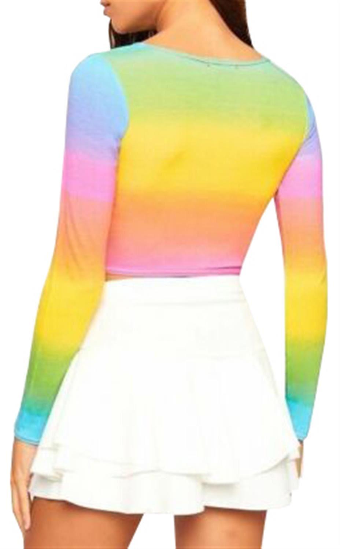 Ladies Multi Rainbow Sheering Boobtube Playsuit Romper Pencil Midi Maxi Skirts