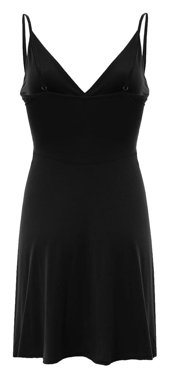 Nouveau-Femme-Curve-Bustier-A-Bretelles-Robe-Patineuse-plongeant-V-Neck-Wrap-Dress-8-22 miniature 3