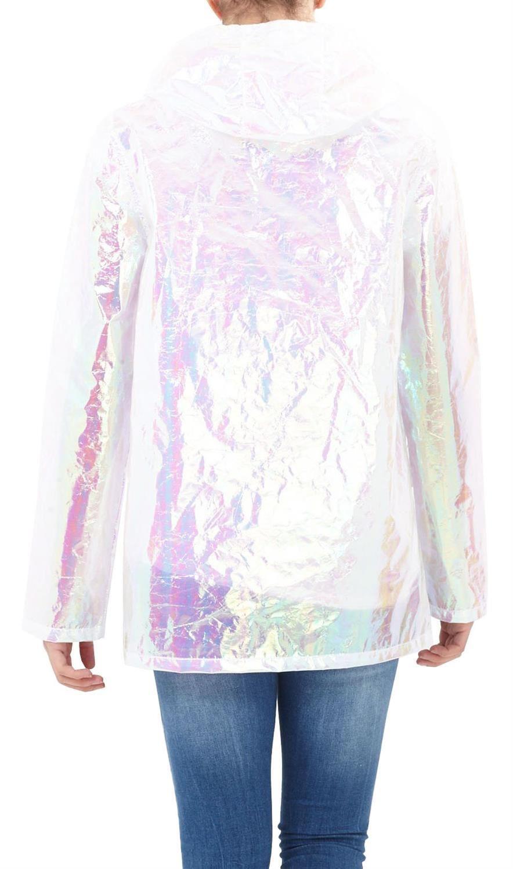 Womens-Holographic-Waterproof-Zipped-Neon-Festival-Jacket-Mac-Parka-Raincoat thumbnail 15