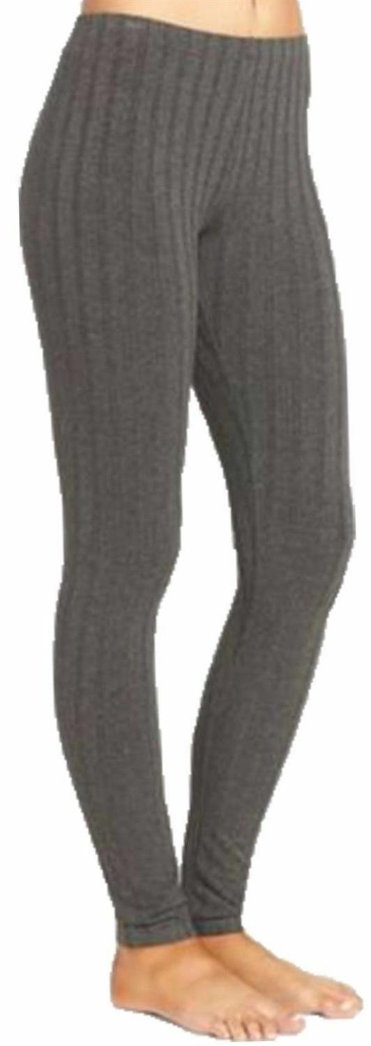 Womens Ladies Plain Warm Thick Chunky Cable Ladies Ribbed Knitted Leggings