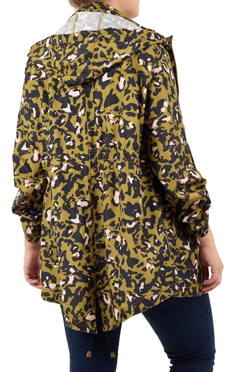 Ladies-Plus-Size-Plain-Printed-Parka-Hooded-Fishtail-Polyester-Mac-Raincoats thumbnail 23