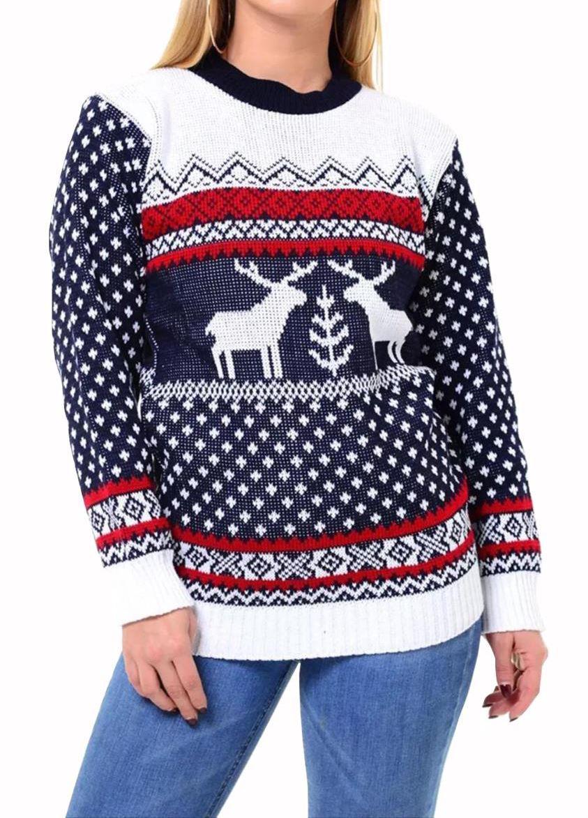 Ladies Mens Unisex 1970s Retro Reindeer Xmas Christmas ...