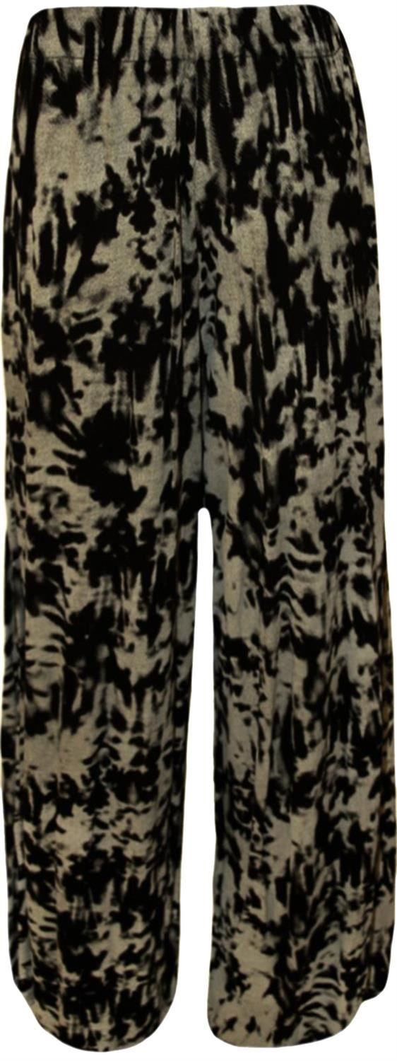 thumbnail 39 - New Women Casual Flare Wide Leg Long Floral Printed Palazzo Baggy Trousers