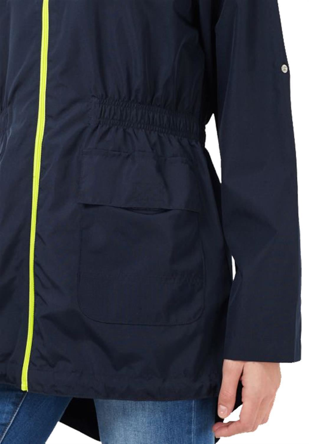 Ladies-Plus-Size-Plain-Printed-Parka-Hooded-Fishtail-Polyester-Mac-Raincoats thumbnail 65