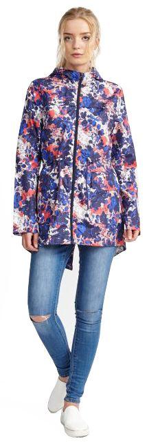 Ladies-Plus-Size-Abstract-Print-Polyester-Mac-Raincoat-Showerproof-Jackets-8-24 thumbnail 3