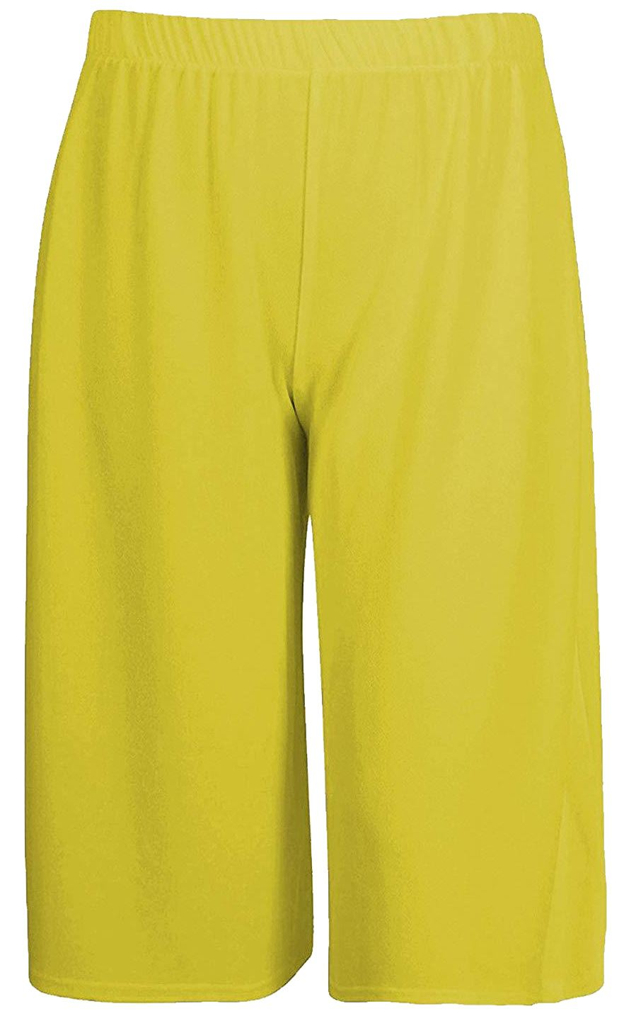Détails sur Nouvelle Femme Uni 34 Longueur Court Pantalon Décontracté Jambe Large Culottes Pantalons 8 26 afficher le titre d'origine