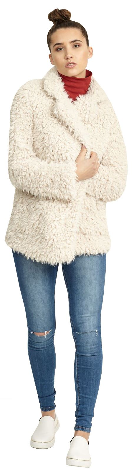 Womens Gabriel Designer Super Soft Fluffy Satin Line Faux ...