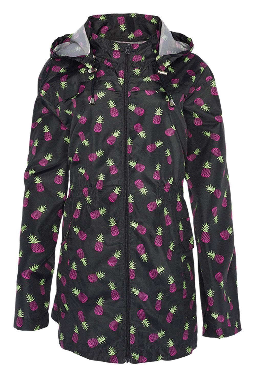 daa650f408f9d Ladies Plus Size Plain Mac Raincoats Waterproof Fishtail Parka ...