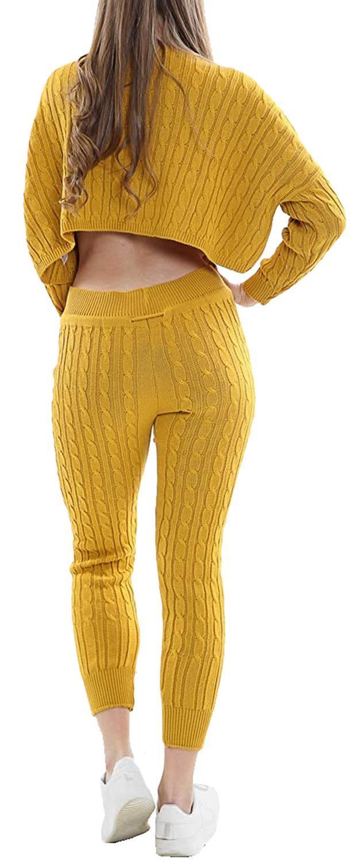 Femme Boxy Baggy Haut De Survêtement De Détente Bottoms Set Survêtement Set 8-14