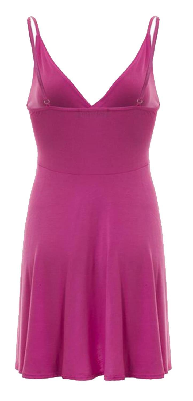 Nouveau-Femme-Curve-Bustier-A-Bretelles-Robe-Patineuse-plongeant-V-Neck-Wrap-Dress-8-22 miniature 5