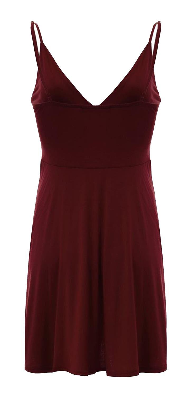 Nouveau-Femme-Curve-Bustier-A-Bretelles-Robe-Patineuse-plongeant-V-Neck-Wrap-Dress-8-22 miniature 21