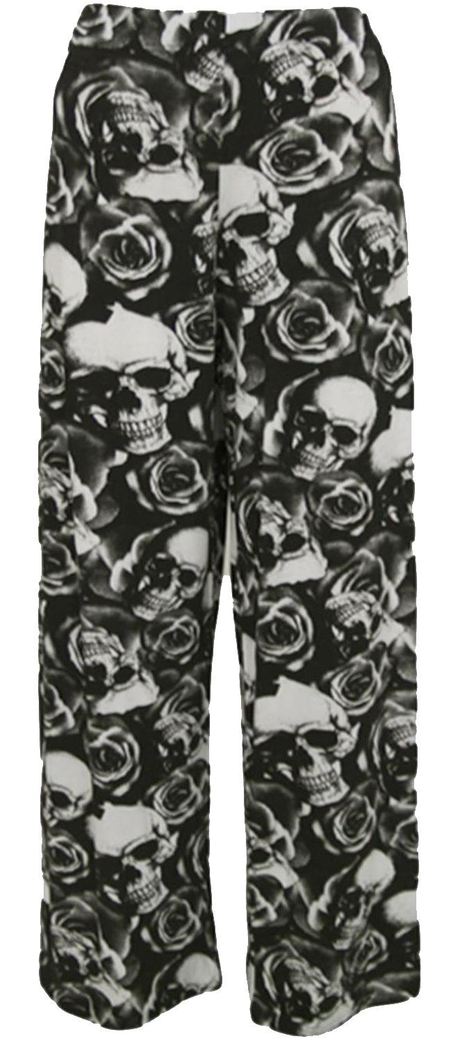 thumbnail 37 - New Women Casual Flare Wide Leg Long Floral Printed Palazzo Baggy Trousers