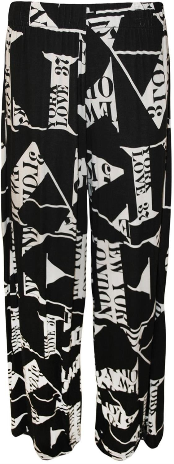 thumbnail 29 - New Women Casual Flare Wide Leg Long Floral Printed Palazzo Baggy Trousers