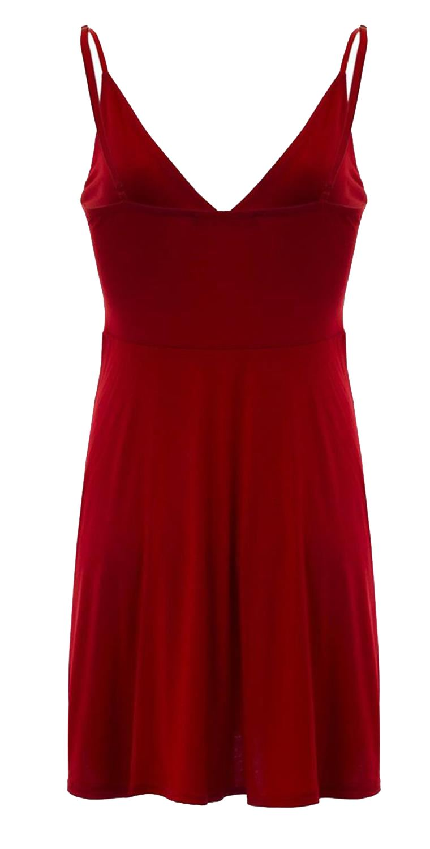 Nouveau-Femme-Curve-Bustier-A-Bretelles-Robe-Patineuse-plongeant-V-Neck-Wrap-Dress-8-22 miniature 15