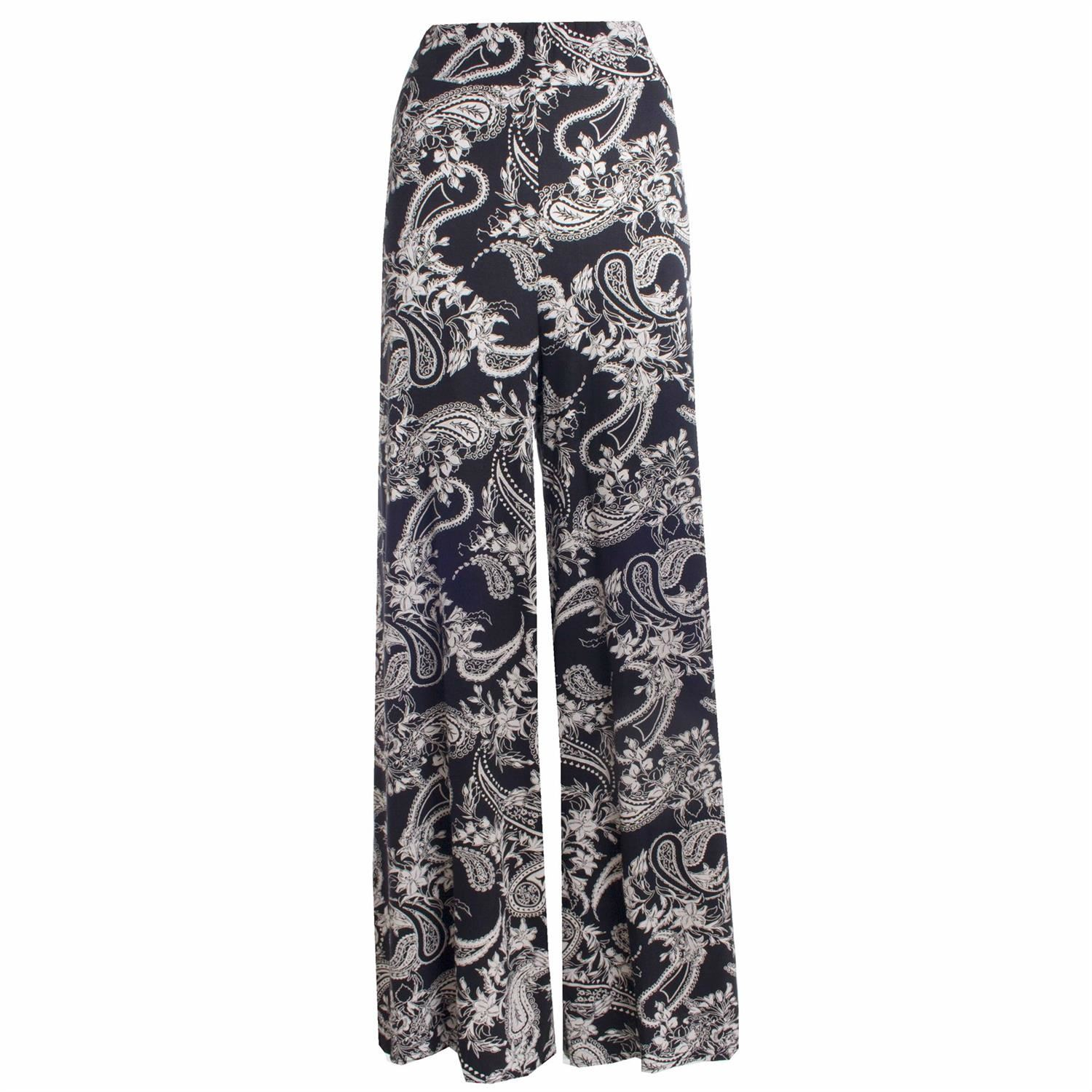 thumbnail 15 - New Women Casual Flare Wide Leg Long Floral Printed Palazzo Baggy Trousers