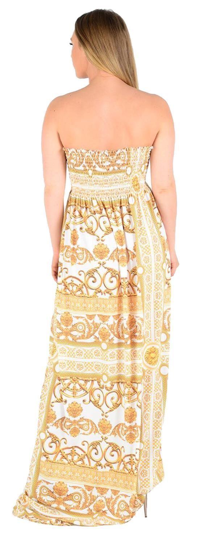 Details zu Frauen Plus Größe Trägerlos Sheering Boob Tube Bandeau Sommer  Strand Maxi Kleid