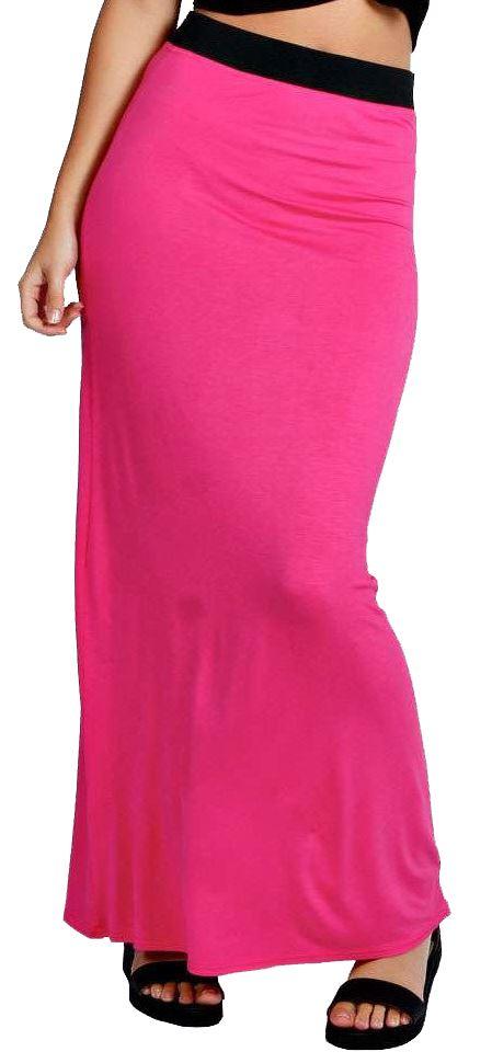 Neu Damen Plus Größe Voll Länge Zigeuner Jersey Maxi Rock Kleid 36-54