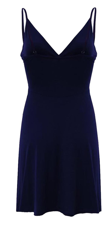 Nouveau-Femme-Curve-Bustier-A-Bretelles-Robe-Patineuse-plongeant-V-Neck-Wrap-Dress-8-22 miniature 11