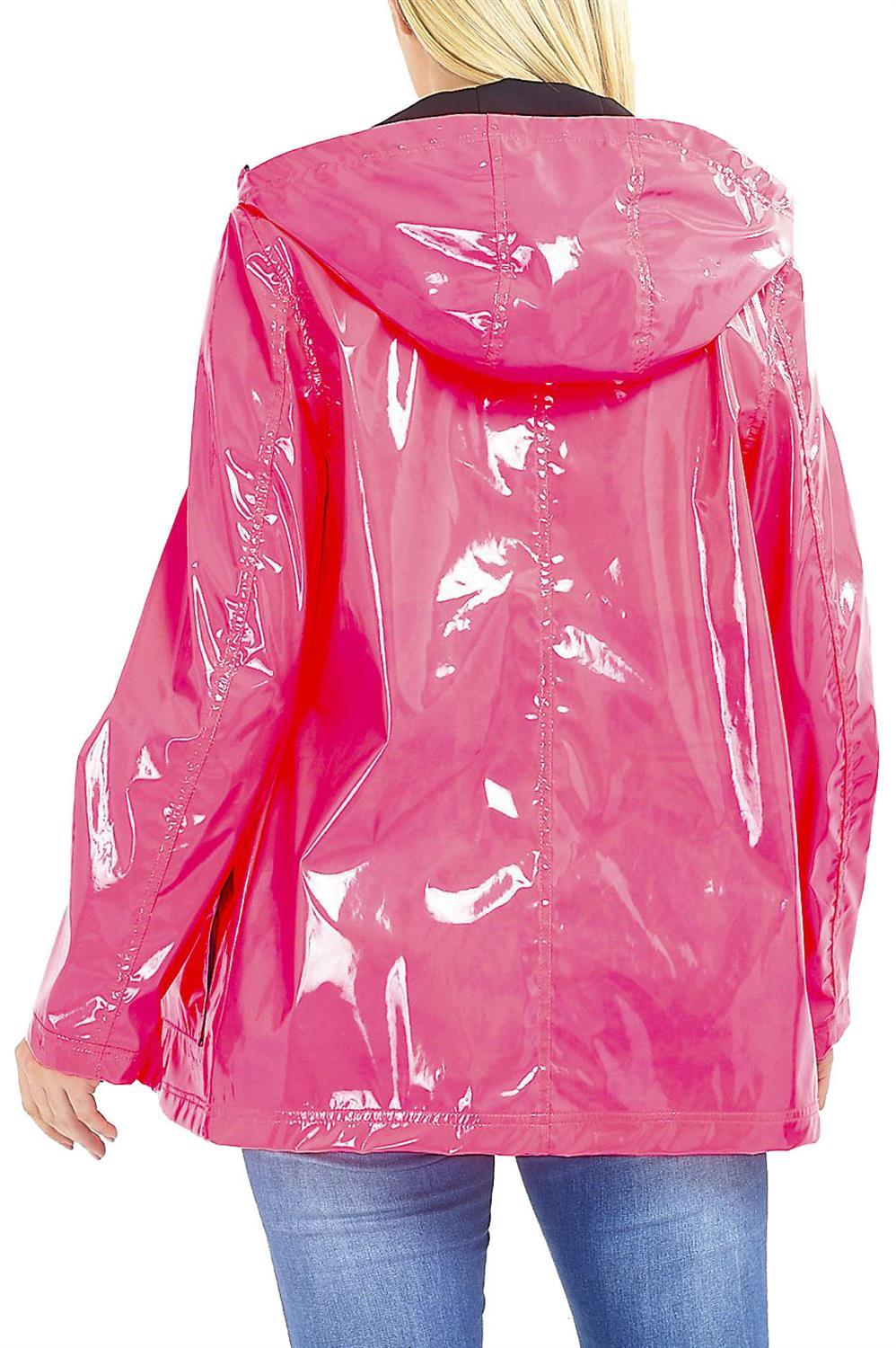 good out x to buy exclusive deals Details about New Womens Brave Soul Neon Pink High Shine Hooded Mac  Raincoat Jacket