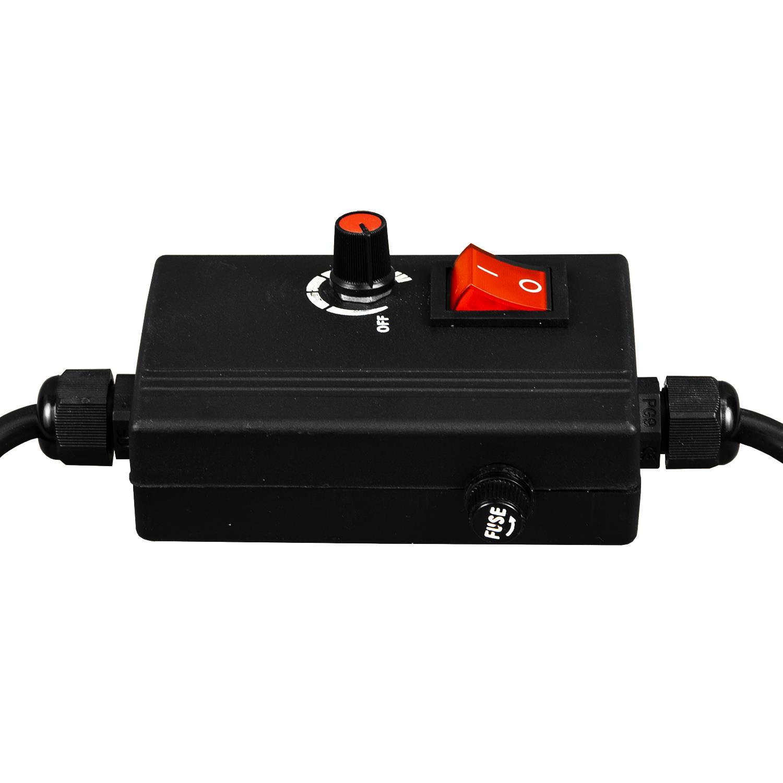 miniatuur 9 - Dimmer Switch 1000-2000W Mains Socket Halogen Filament Lamp Light Switch UK EU