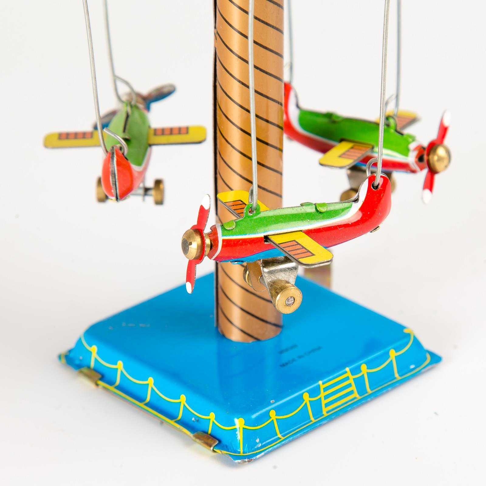 Wind Up Carousel Tin Toy Vintage Fairground Ferris Wheel Collectable Gift UK