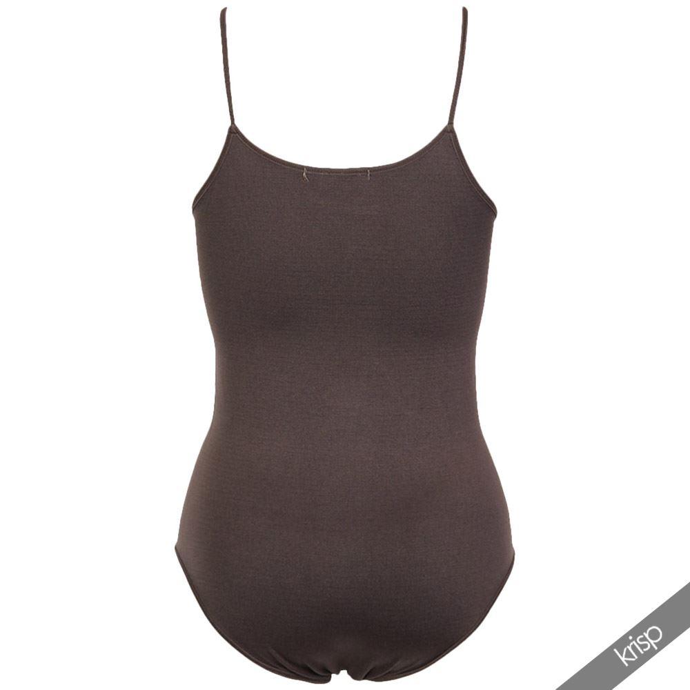 Body-Mujer-Basico-Invierno-Cuello-Barato-Top-Camiseta-Ajustado-Tirantes-Elastico miniatura 5