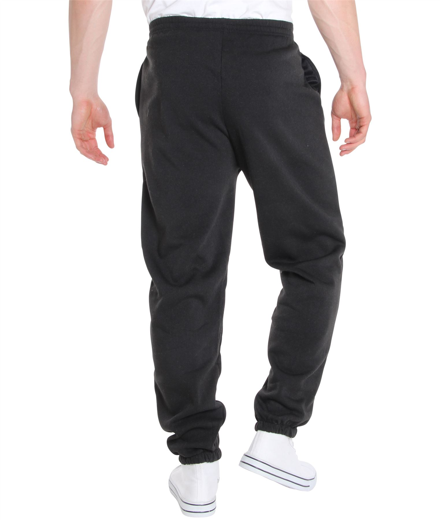 Mens-Tracksuit-Bottoms-Striped-Joggers-Jogging-Trousers-Fleece-Pants-Casual-Work thumbnail 3