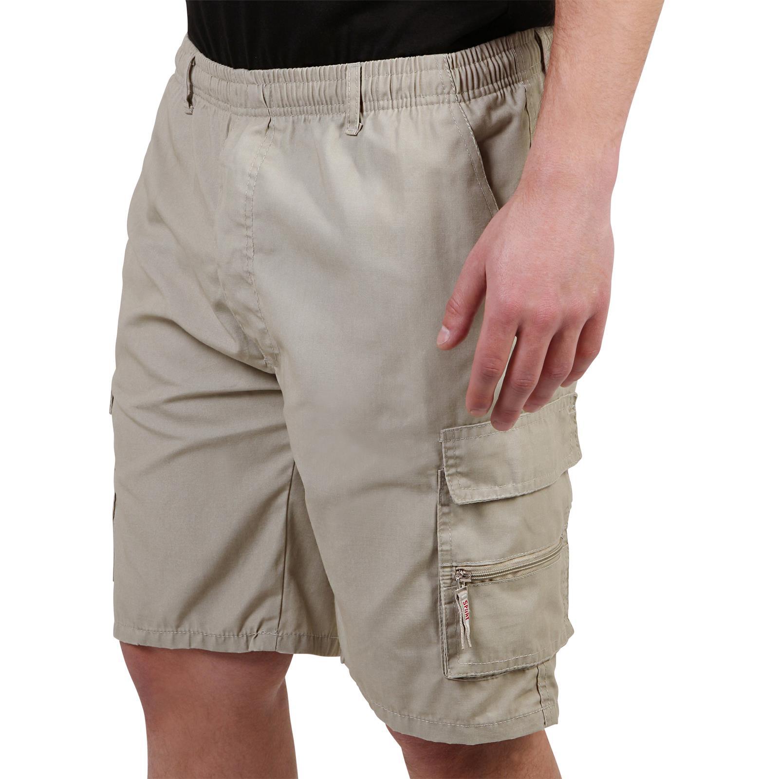 Mens-Cotton-Cargo-Shorts-Plain-Basic-Casual-Work-Chinos-Combat-Pants-Regular thumbnail 23