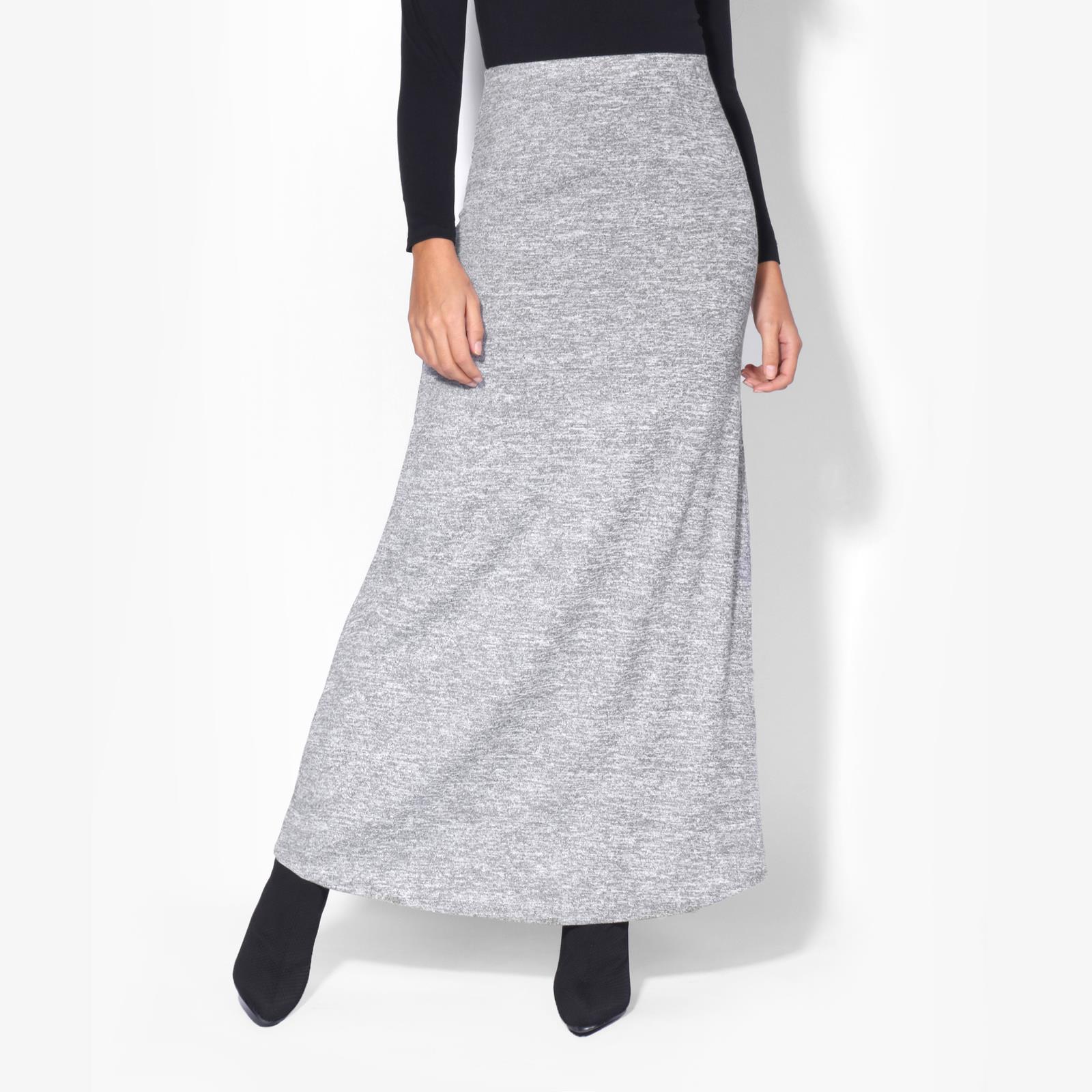 Womens-Ladies-Maxi-Skirt-High-Waist-A-Line-Long-Knit-Stretch-Bodycon-Casual-Boho thumbnail 8