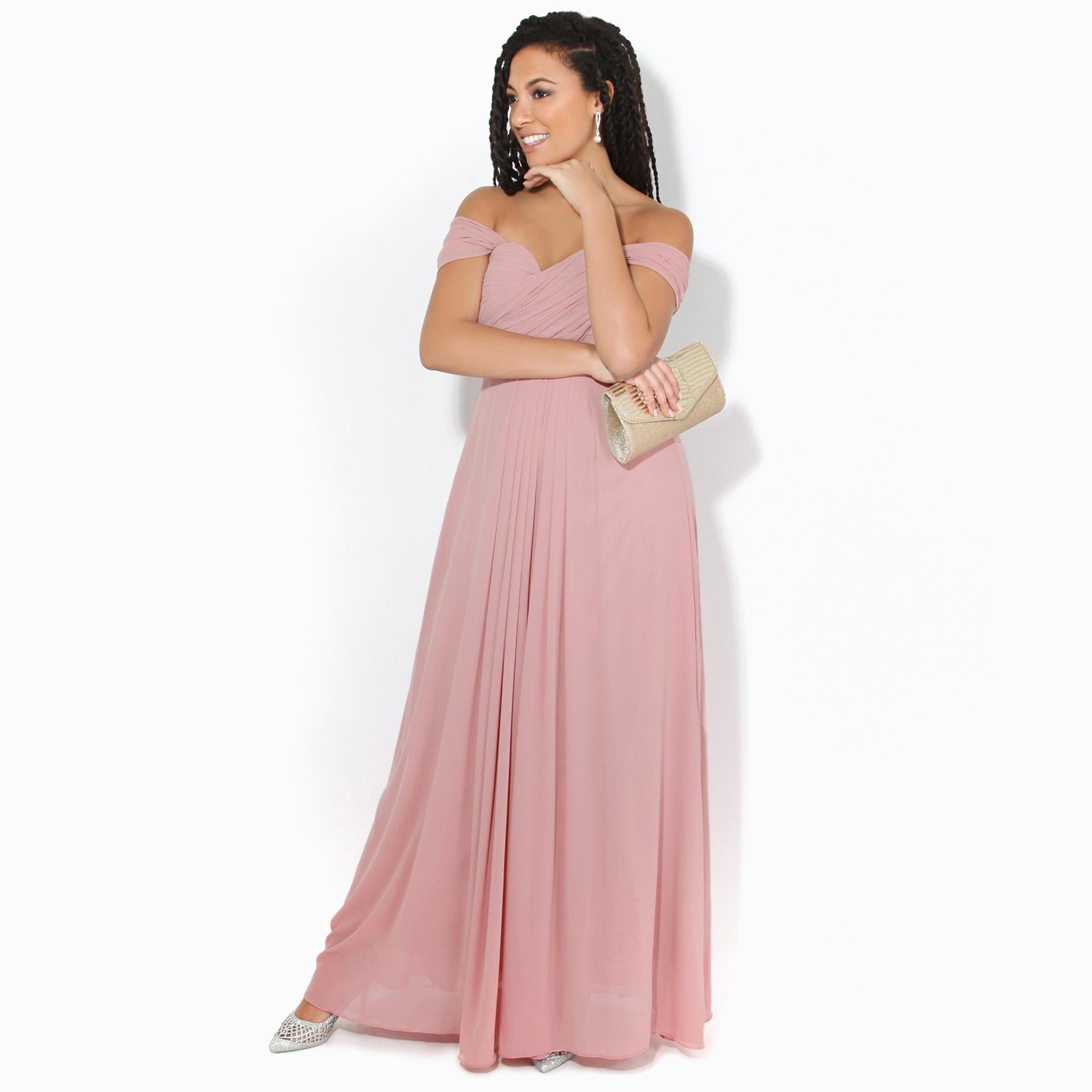 Womens-Formal-Evening-Wedding-Maxi-Prom-Dress-Long-On-Off-Shoulder-Ball-Gown thumbnail 25