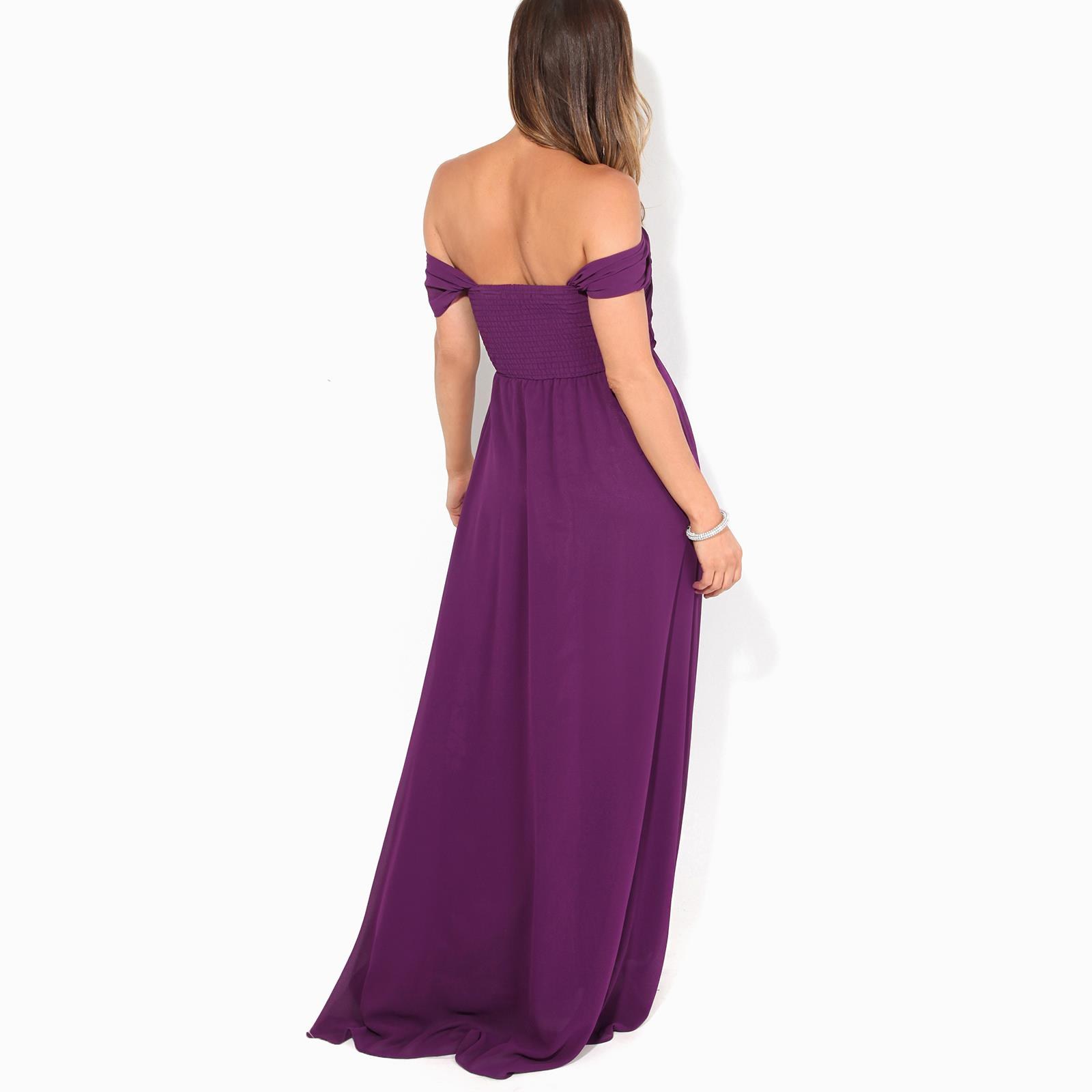 Womens-Formal-Evening-Wedding-Maxi-Prom-Dress-Long-On-Off-Shoulder-Ball-Gown thumbnail 46