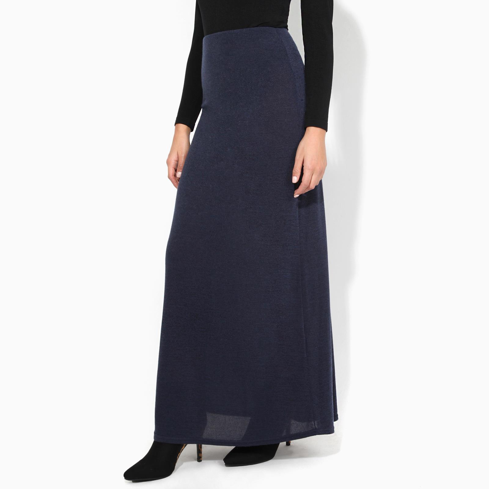 Womens-Ladies-Maxi-Skirt-High-Waist-A-Line-Long-Knit-Stretch-Bodycon-Casual-Boho thumbnail 14