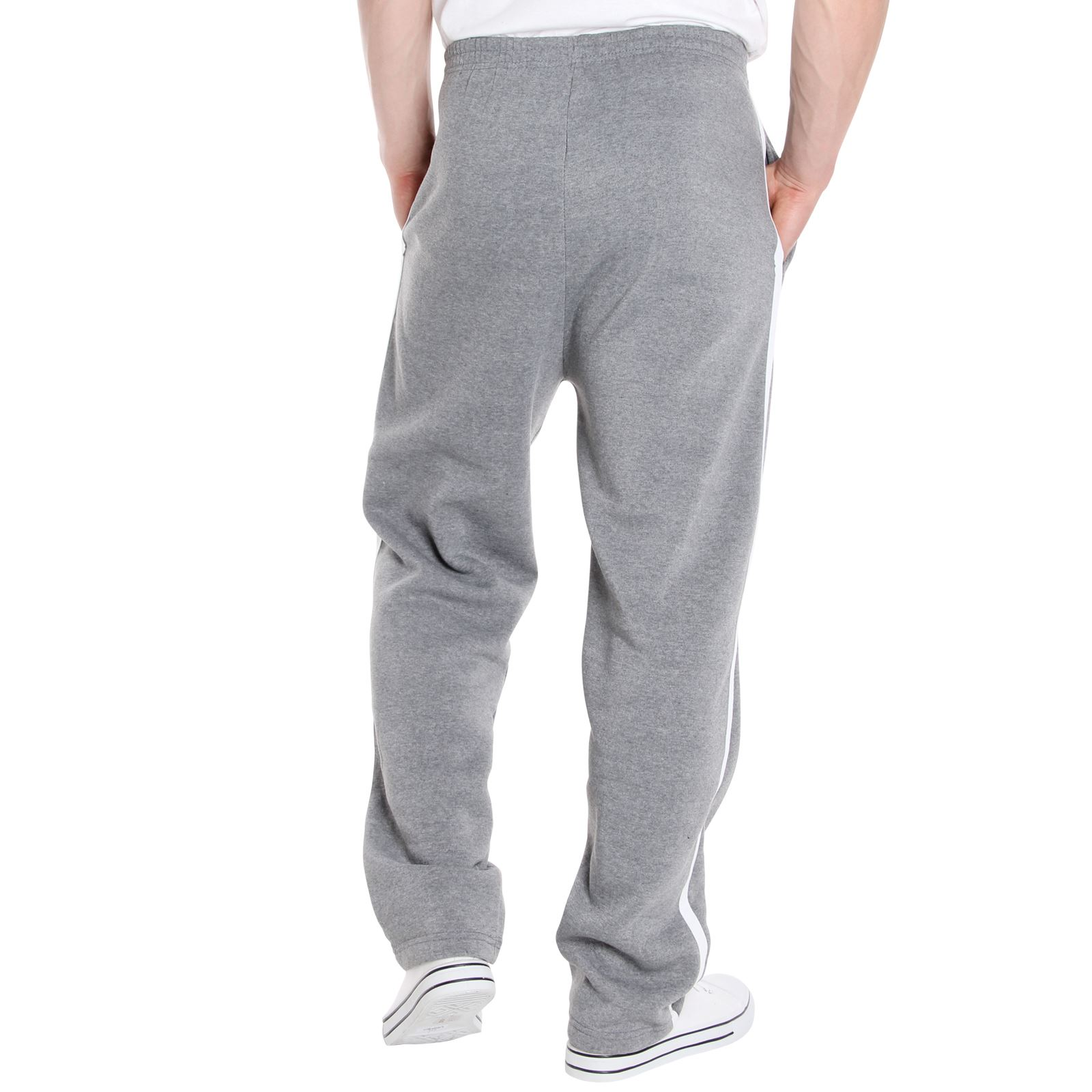 Mens-Tracksuit-Bottoms-Striped-Joggers-Jogging-Trousers-Fleece-Pants-Casual-Work thumbnail 19