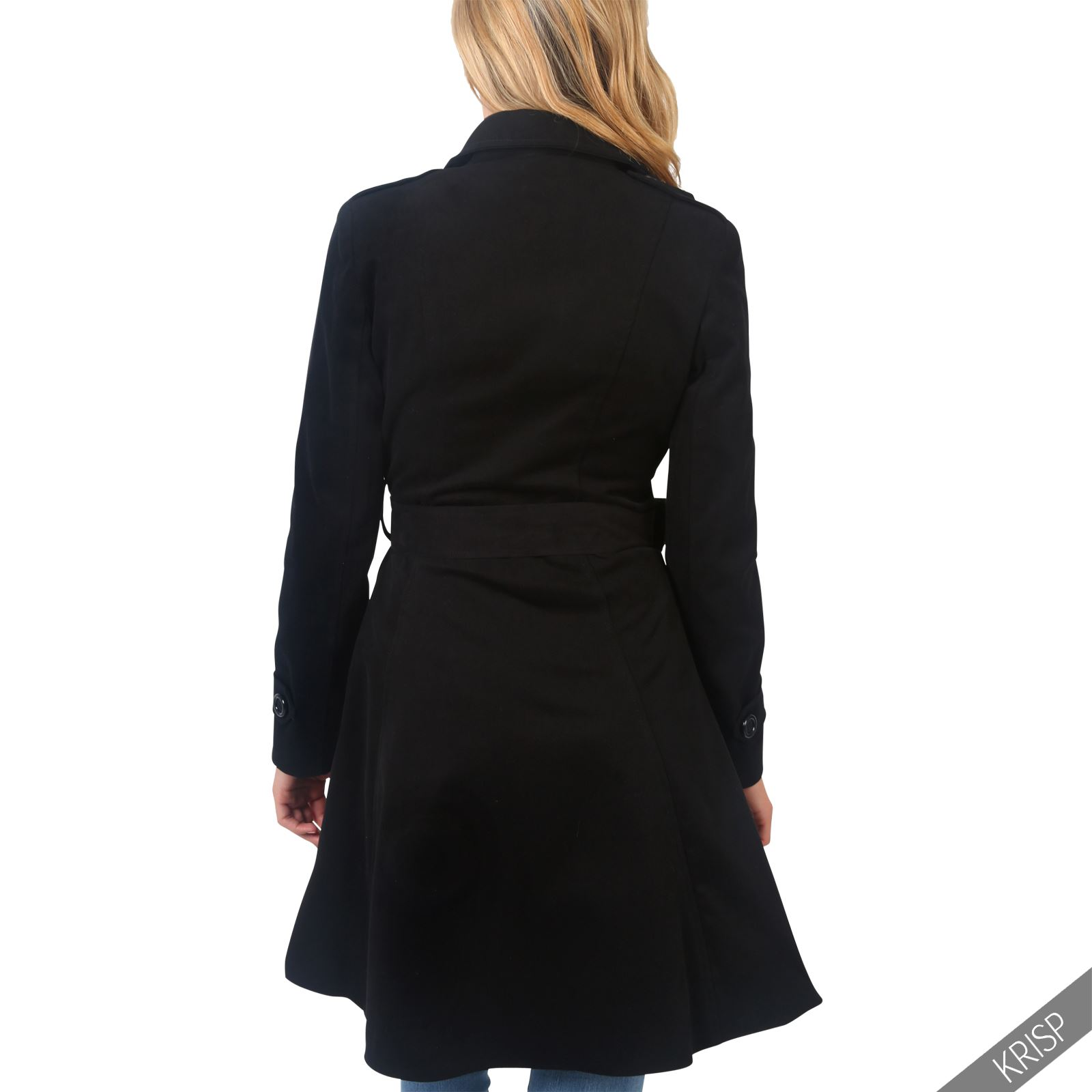 damen trenchcoat mantel parka elegante lange jacke klassischer schnitt baumwolle ebay. Black Bedroom Furniture Sets. Home Design Ideas