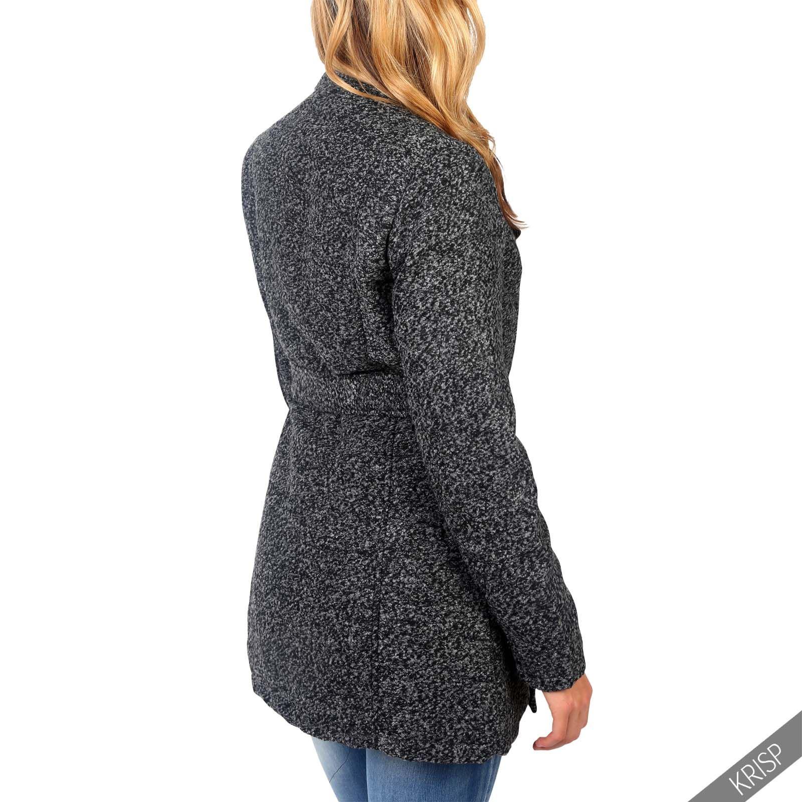 femmes manteau jacket cascade asym trique chaud laine ceinture cardigan cape ebay. Black Bedroom Furniture Sets. Home Design Ideas