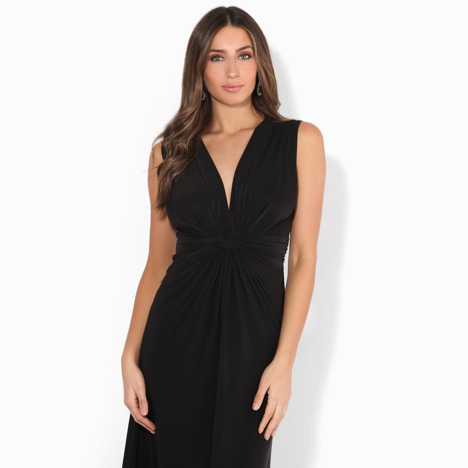 Robe Femme Longue Habillee Mariage Chic Pas Cher Mode Cocktail Decollete Fronce Ebay