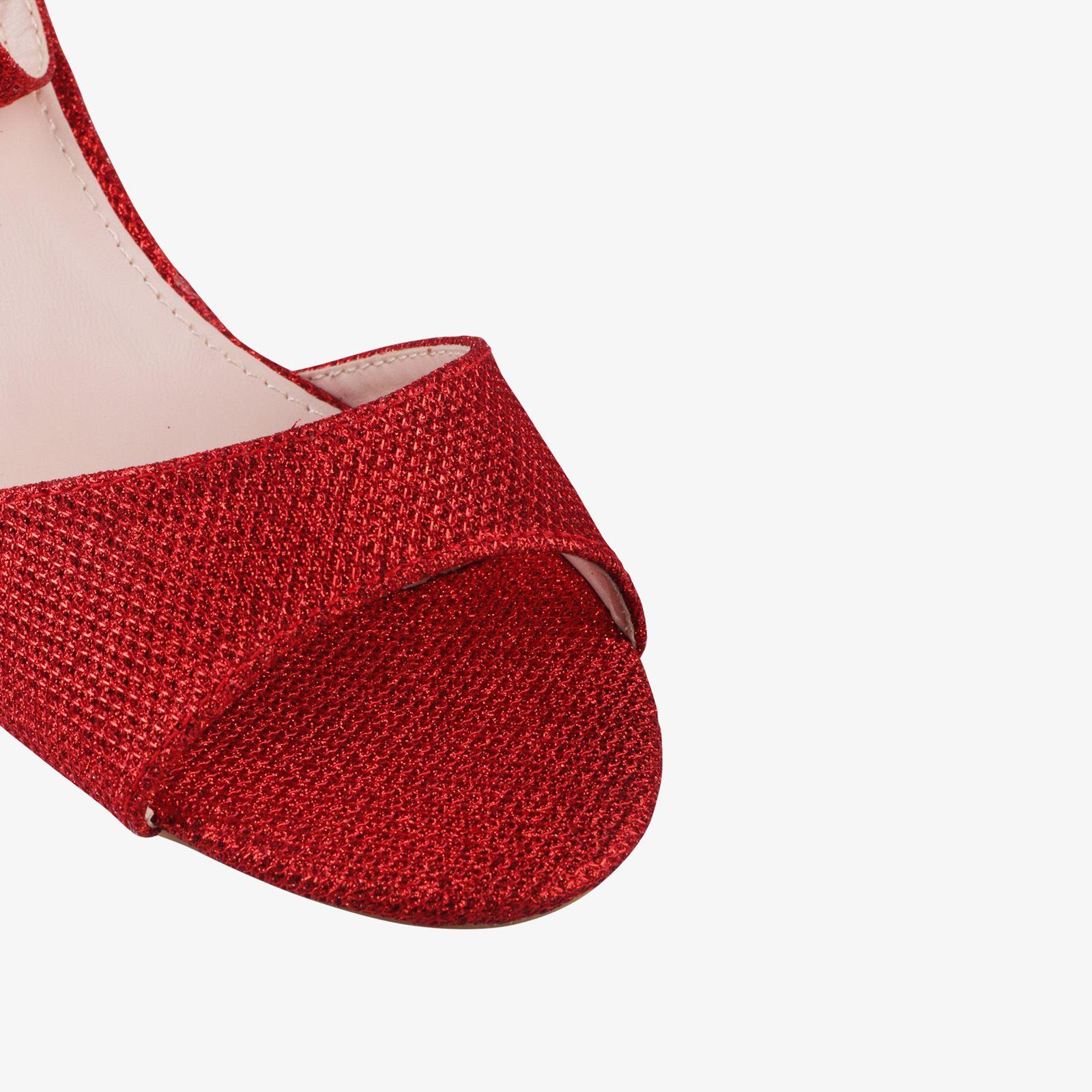 Women-Ladies-Low-Kitten-Heel-Court-Shoes-Open-Toe-Glitter-Sandals-Party-Bridal thumbnail 12