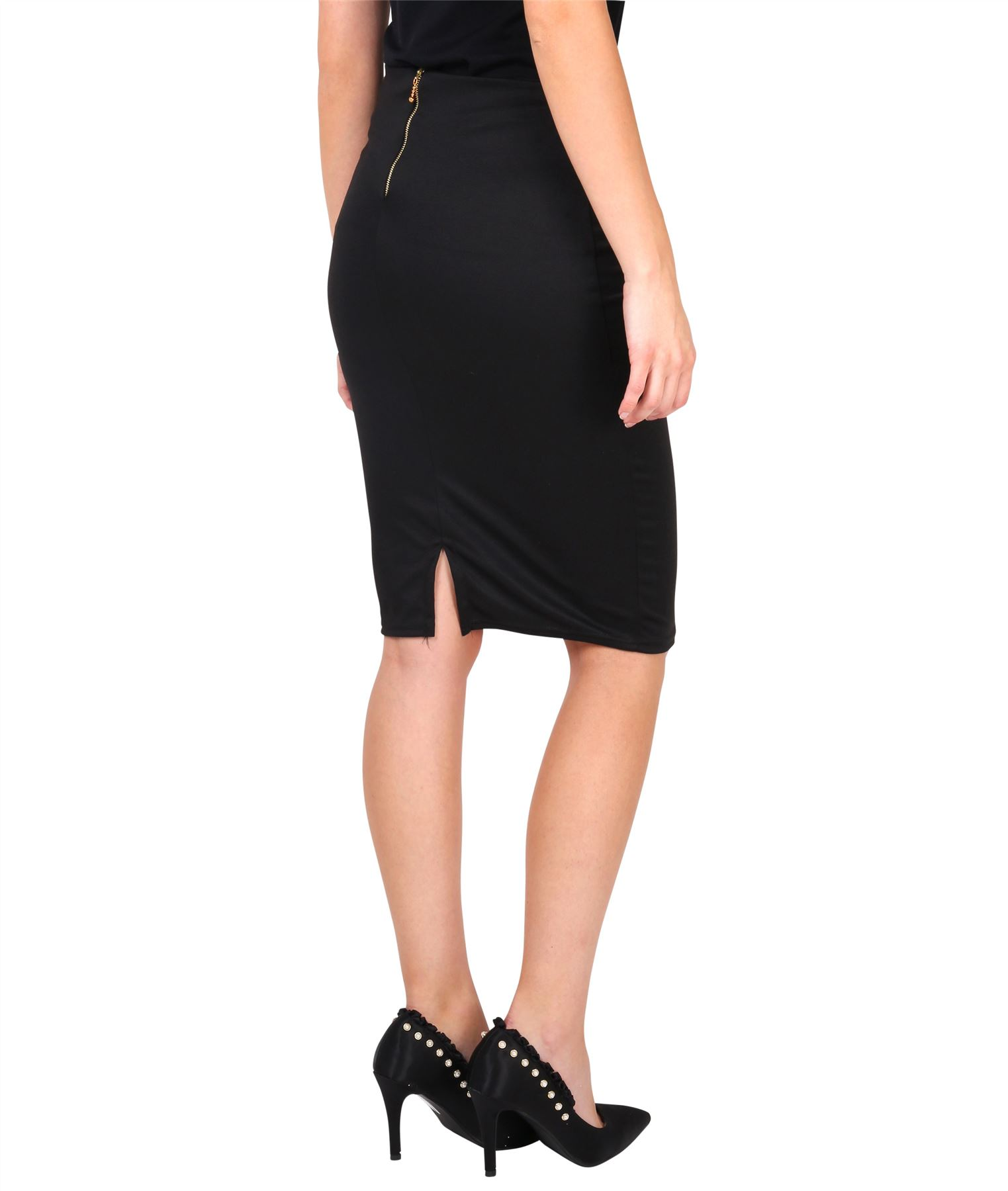 Womens-Ladies-Pencil-Skirt-Midi-Knee-Long-High-Waist-Work-Office-Business-Smart thumbnail 4